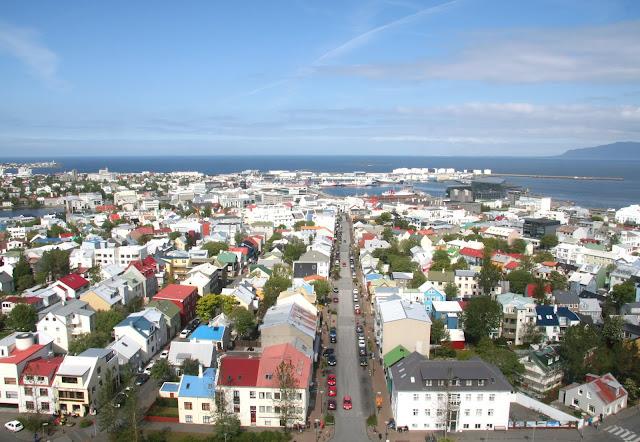 Reykjavik view from Hallgrímskirkja