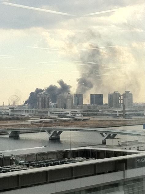 Последствия землетрясения в Японии: город в огне