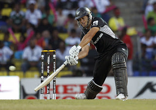 Ross Taylor plays shot during his unbeaten innings of 131, New Zealand v Pakistan, Group A, World Cup, Pallekele, March 8, 2011