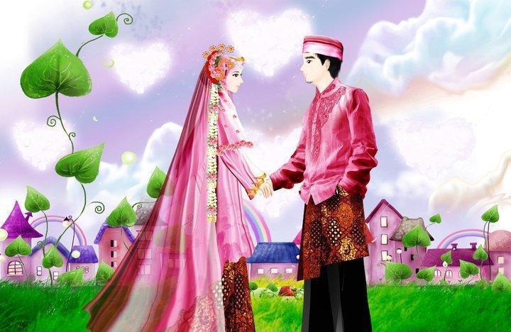 Koleksi Gambar Kartun Pengantin Muslimah Www Picswe Com