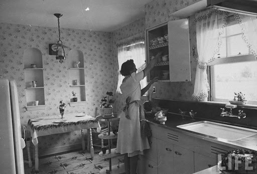 Mother in kitchen