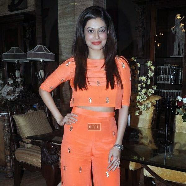 Payal Rohatgi during Sangram Singh's birthday party, held at Churchgate, on July 20, 2014.(Pic: Viral Bhayani)