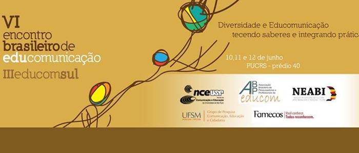 Programação completa do VI Encontro Brasileiro de Educomunicação e III EducomSul