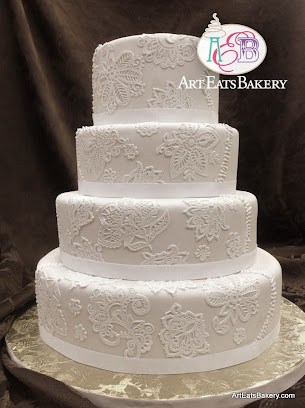 Red And White Wedding Cakes 98 Simple Ivory and brown textured