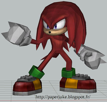 Knucles the Echidna Papercraft