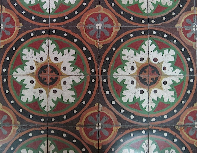 Machuca tiles at San Beda Chapel