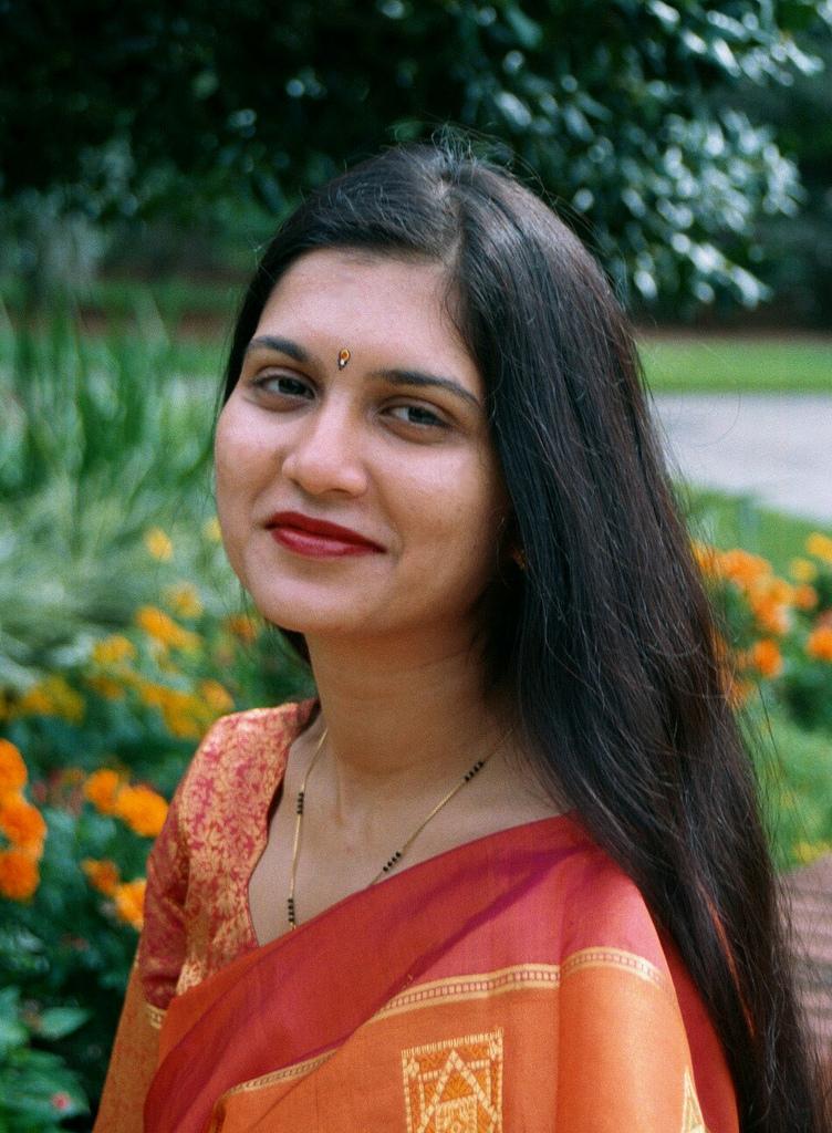'Long Hair Indian Woman