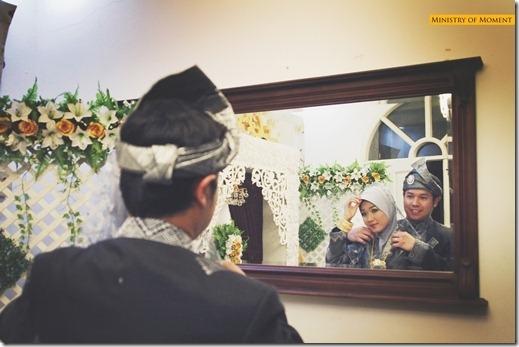 nurfarahin romli dan ally iskandar gambar perkahwinan majlis resepsi