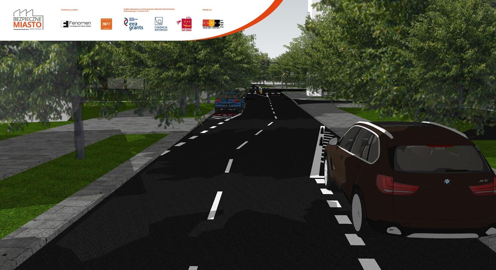 Zakrzywienie toru jazdy sprzyja spokojnej i bezpiecznej jeździe.