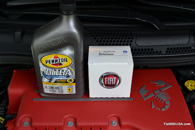 Fiat 500 Abarth oil change