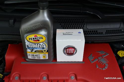 Fiat 500 abarth oil