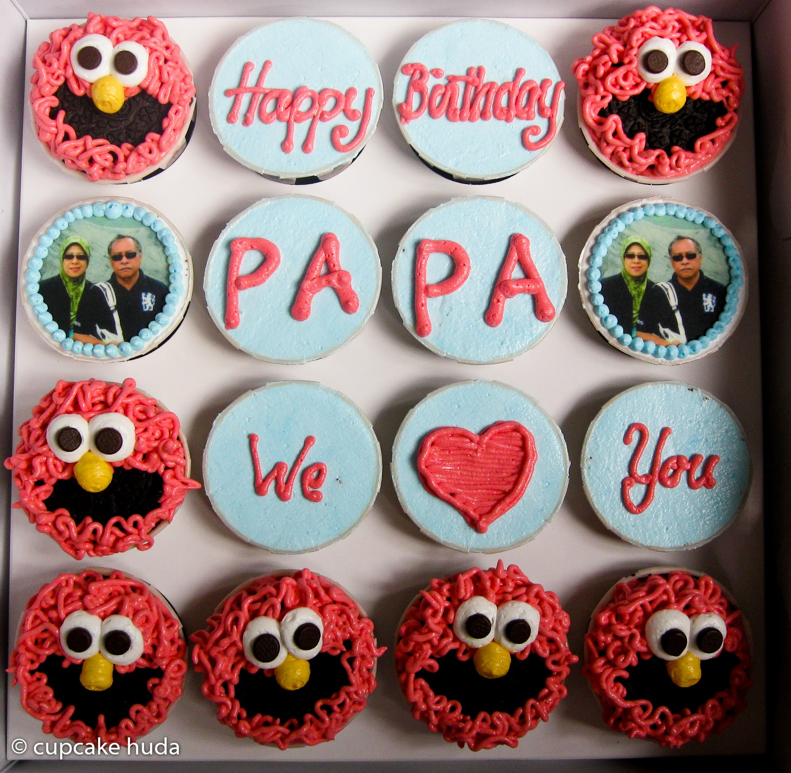 Happy Birthday Papa Haida cupcake huda