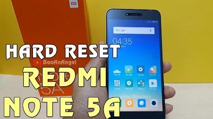 Hướng dẫn Hard Reset Xiaomi Redmi Note 5A