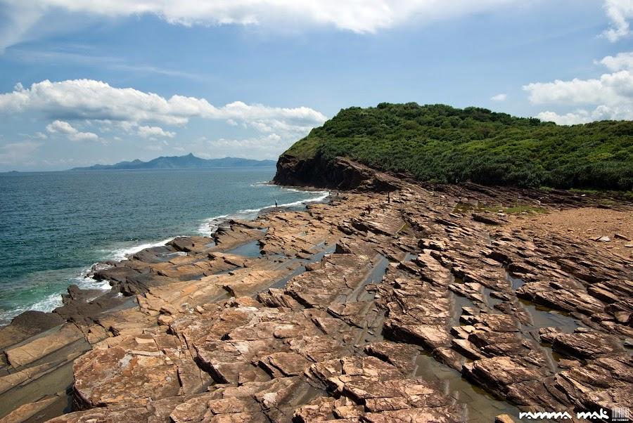 這段海岸擁全島最大面積的頁岩