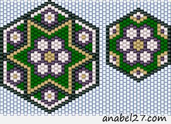 схема бисероплетение кулон серьги мозаика мозаичное плетение peyote pattern
