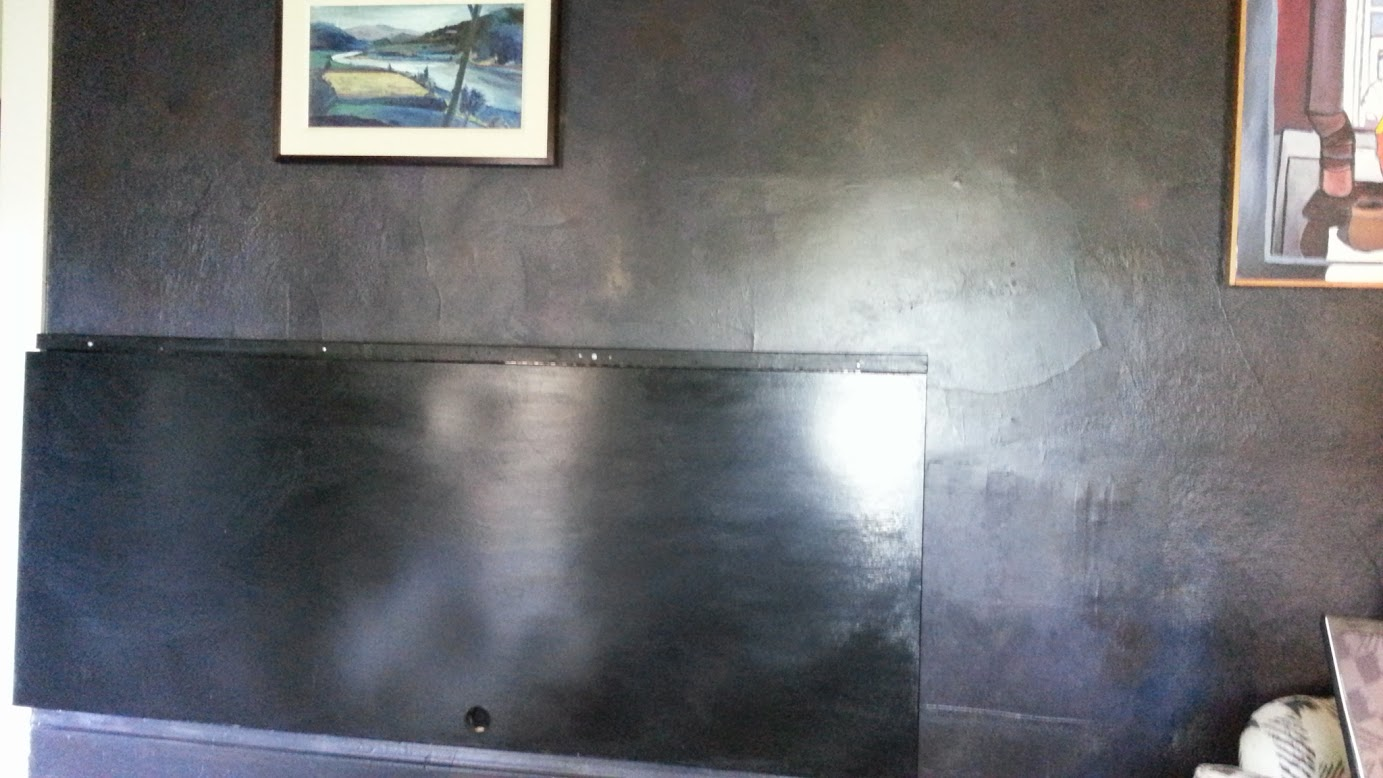 Wall table, a glossy black-paint