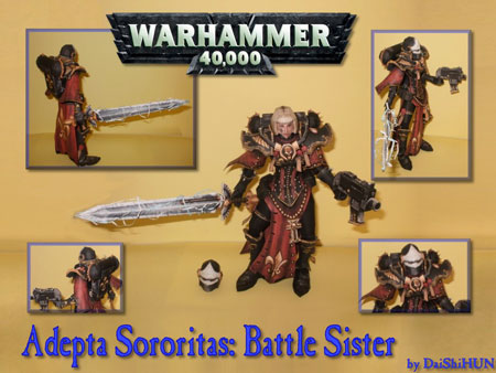 Warhammer 40K Adepta Sororitas Sisters of Battle Papercraft