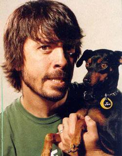 Dave Grohl and his dog Mia