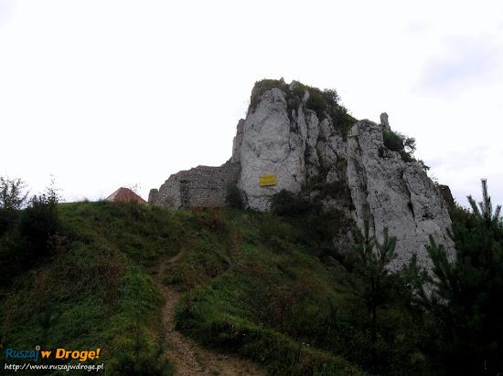 podejście pod zamek Rabsztyn