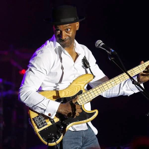 Marcus Miller, jazz composer and bass guitarist, performs on stage during the Monte Carlo Summer Festival on July 23, 2014 in Monaco.