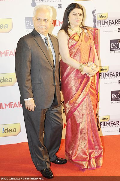 Ramesh Sippy with Kiran Juneja during the 58th Idea Filmfare Awards 2013, held at Yash Raj Films Studios in Mumbai.Click here for:<br />  58th Idea Filmfare Awards