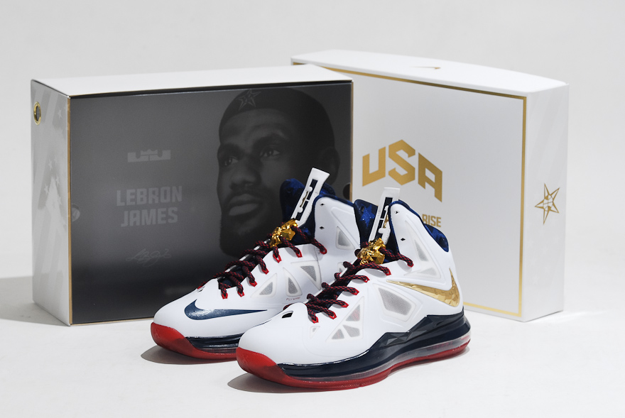 Nike LeBron 10 X Sport Pack Gold Medal USA