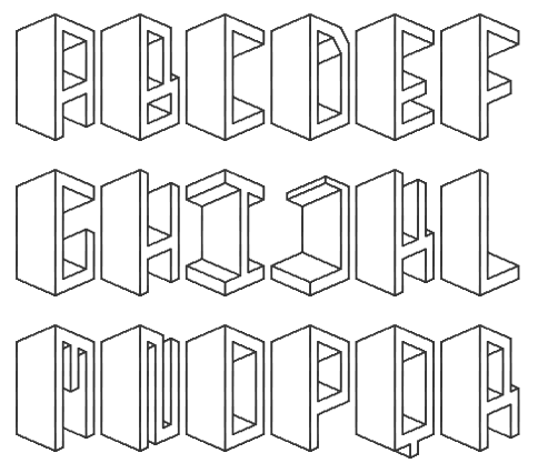 Uncontained Creativity: 3D Alphabets
