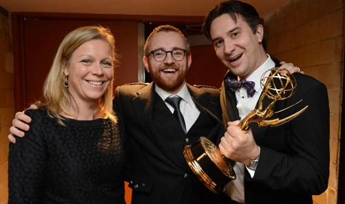 Rob Wilkin i ekipa BBC po zdobyciu Emmy