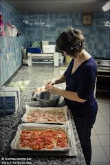 La fabrication des pizzas