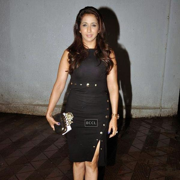 Krishika Lulla arrives for the wrap-party of Bollywood movie Mary Kom, held at Sanjay Leela Bhansali's residence on July 26, 2014.(Pic: Viral Bhayani)
