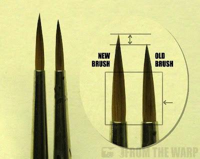 Warhammer 40k Raphael Kolinsky Sable paintbrush
