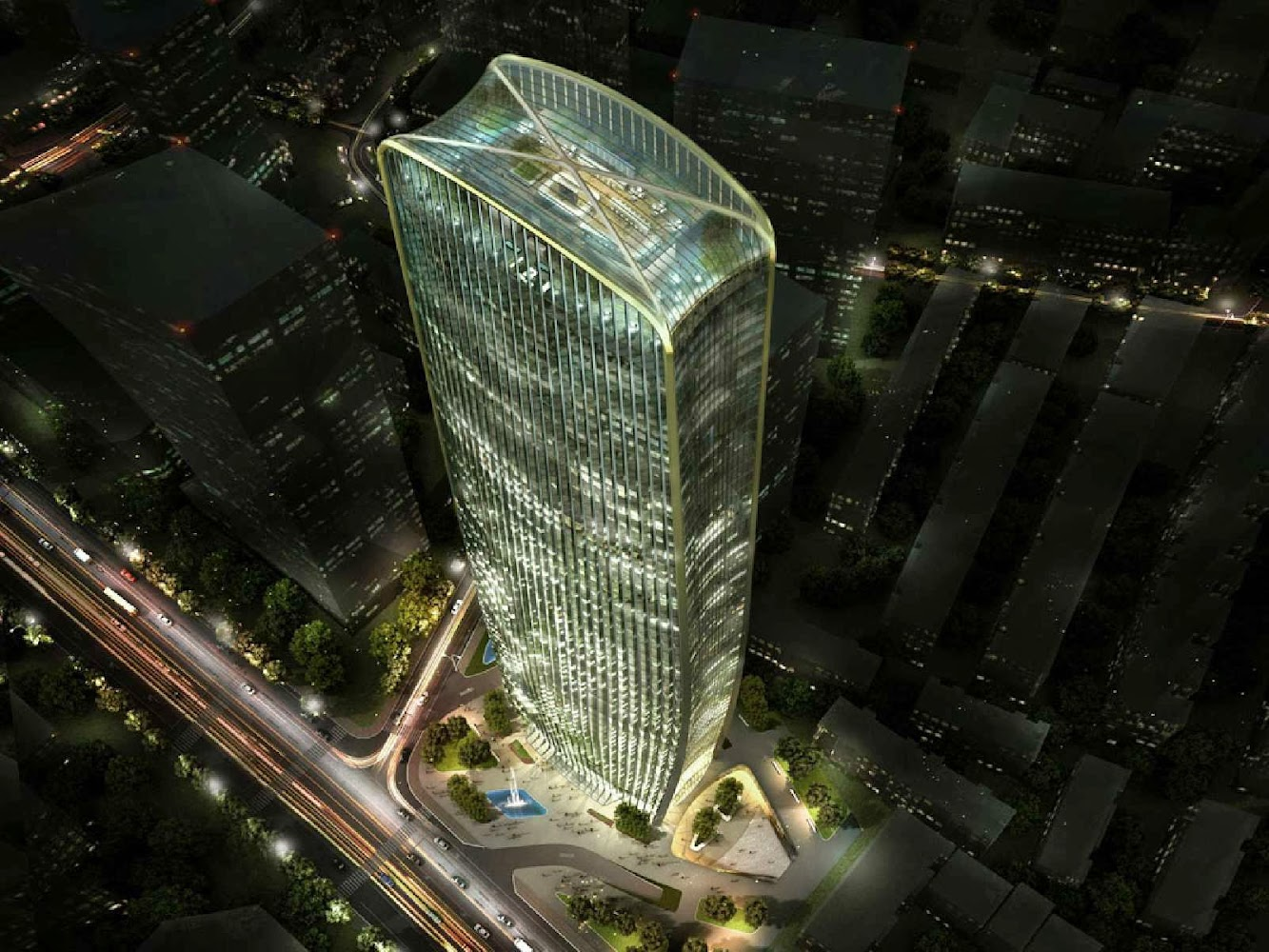 Taiyuan, Sciansi, Cina: Henn Wins Cenke Tower Competition