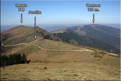 Betaio y Ventoso visto desde la cota
