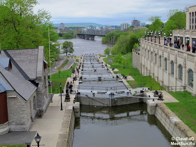 Ottawa. Rideau Canal. Ecluze