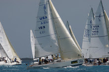 J/80 one-design sailboats- sailing Key West