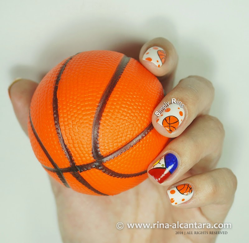 Basketball Nails for Gilas Pilipinas by Simply Rins