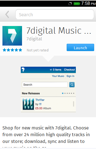 7Digital Music Store บน Firefox Marketplace ใน Firefox OS