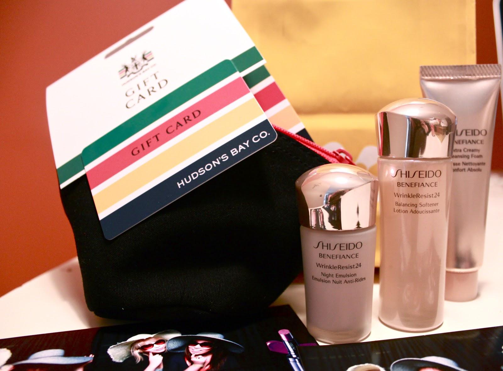 shiseido gift card