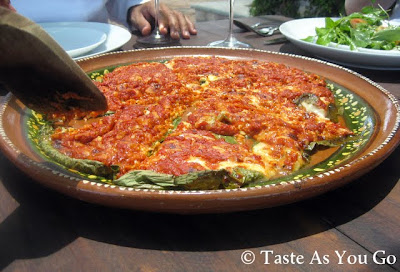 Queso en Hoja Santa at Los Tamarindos in Los Cabos, Mexico - Photo by Taste As You Go