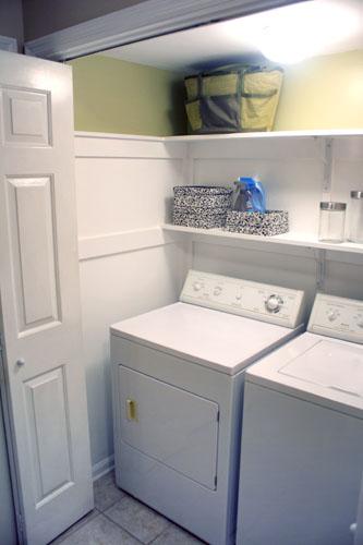 The Redheaded Stepchild: DIY: laundry closet redo: the big reveal