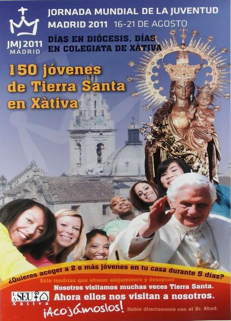 JMJ Xàtiva. Iglesia Colegial Basílica de Santa María de Xàtiva.