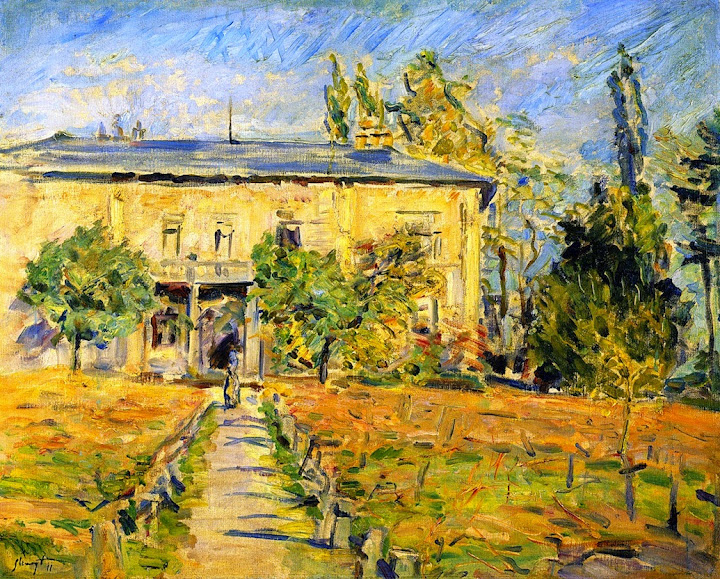 Max Slevogt - The Country House in Godramstein (West Side), 1911