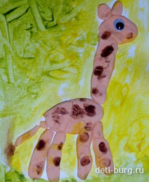 поделки из соленого теста жираф