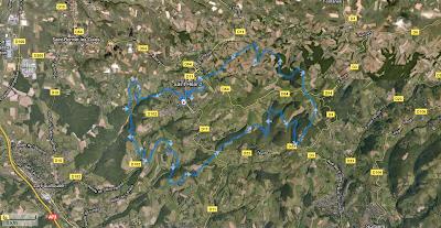 Trail de Saint-Héand 2011 - parcours