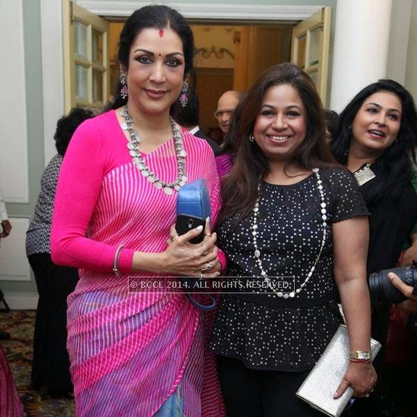 Vani Ganapathy and Manjusha attend the book launch of Maya Rao's autobiography, titled Maya Rao - A Lifetime in Choreography at ITC Windsor, Bangalore.