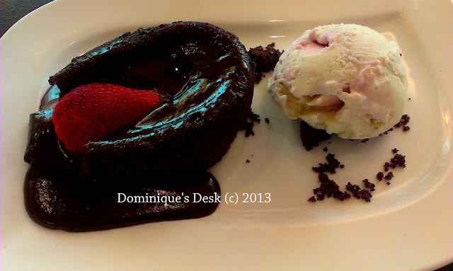 Chocolate Lava Cake with Ice-cream