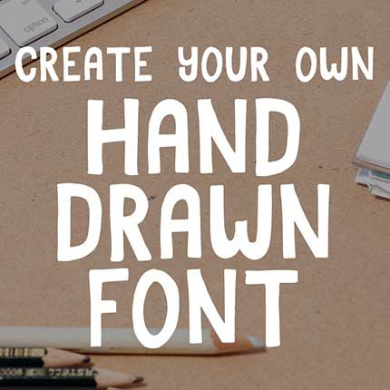 Learn how to create your own hand lettered font on Skillshare