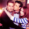 Matt, Karen and Arthur group hugging