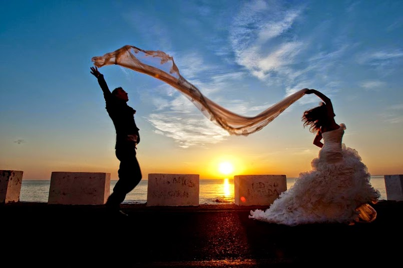 boda, novia, vestido