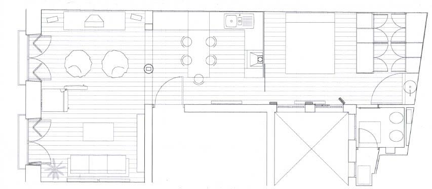 Lrh arquitecto reforma de vivienda de 50 m2 - Reforma piso 50 m2 ...